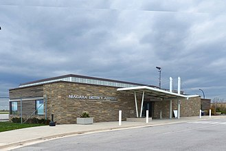 St. Catharines/Niagara District Airport - The terminal building at the St. Catharines/Niagara District Airport.