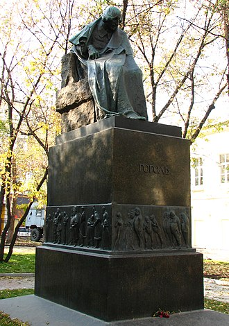 Nikolay Andreyev - Statue of Gogol now standing in a courtyard of Nikitsky Boulevard