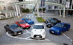 all generations of the Nissan Skyline