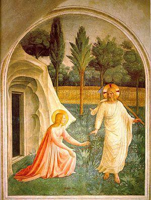Noli me tangere - Image: Noli me tangere, fresco by Fra Angelico