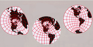 Differentiable manifold - A nondifferentiable atlas of charts for the globe.  The results of calculus may not be compatible between charts if the atlas is not differentiable.  In the center and right charts the Tropic of Cancer is a smooth curve, whereas in the left chart it has a sharp corner.  The notion of a differentiable manifold refines that of a manifold by requiring the functions that transform between charts to be differentiable.