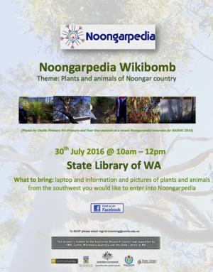 Noongarpedia Wikibomb July 2016 flyer.tif