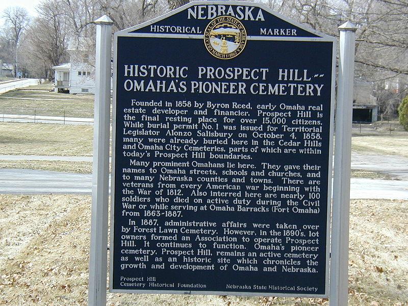 File:North Omaha Prospect Hill Cemetery, Nebraska State Historical Marker.jpg