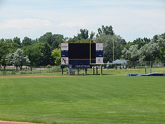 Nottingham Field - Image: Northern Colorado Bears Nottingham Field scoreboard