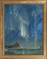 Northern Lights. Study from North Norway (Anna Boberg) - Nationalmuseum - 21310.tif