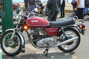 Norton Commando - Norton Commando 750 Interstate model with its distinctive large touring size petrol tank.