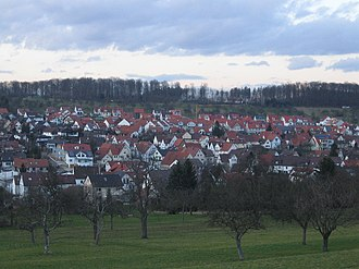 Notzingen - Image: Notzingen mit Neubaugebiet