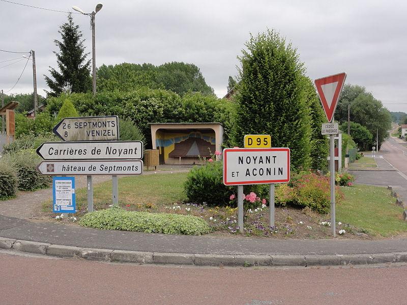 Noyant-et-Aconin (Aisne) Entrée