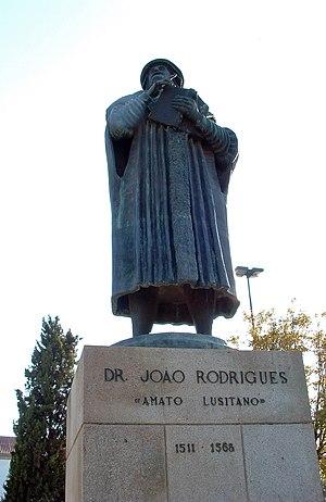 Amato Lusitano - Statue of Amato Lusitano in his hometown Castelo Branco.