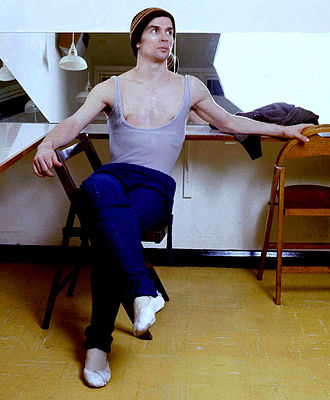 Rudolf Nureyev - Nureyev in his dressing room c. 1974, by Allan Warren