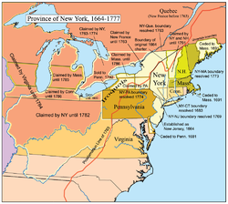 A map of the Province of New York.