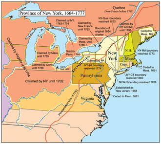 Province of New York - A map of the Province of New York.