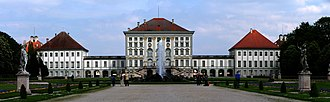 Gallery of Beauties - The Nymphenburg Palace seen from its park