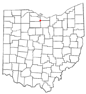 Bellevue, Ohio - Image: OH Map doton Bellevue