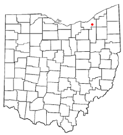 Location of Maple Heights in Ohio