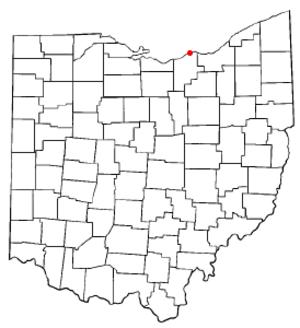 Sheffield Lake, Ohio - Image: OH Map doton Sheffield Lake