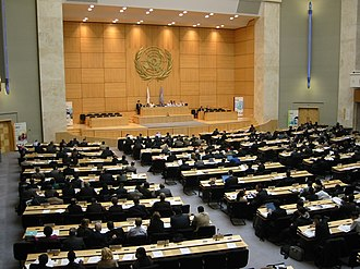 Foreign relations of Switzerland - Session in the Palace of Nations in Geneva