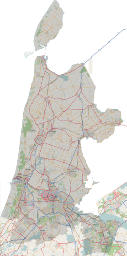 Topography of the province of North Holland