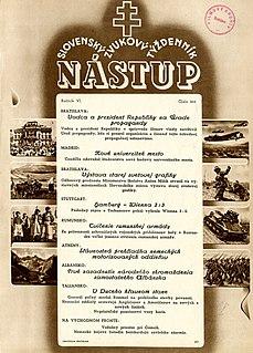 <i>Nástup</i> Slovak periodical