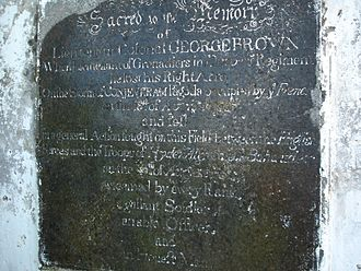 Battle of Pollilur (1781) - Lieu Col George Brown remembered in this obelisk, text is quite faded and very hard to read in certain places.