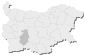 13th MMC – Pazardzhik -  Map of Bulgaria, 13th MMC – Pazardzhik is highlighted