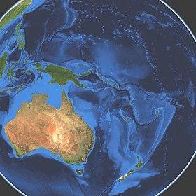 Satellitbillede over Oceanien