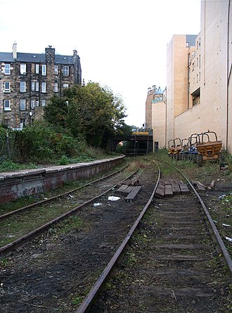 Edinburgh, Leith and Newhaven Railway - The former Abbeyhill Station