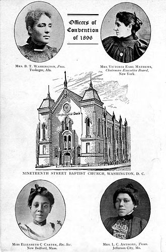 First National Conference of the Colored Women of America - Image: Officers of Convention of 1896