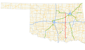 Oklahoma State Highway 48 - Image: Ok 48 path