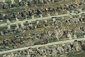 1999 Bridge Creek–Moore tornado - Overhead view of damage in Oklahoma City