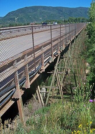 Maroon Creek Bridge - Bridge from west portal, 2010