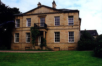 Hollingworth - Facade to Old Mottram Hall as renovated by the Hadfield family