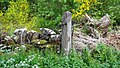 Old Railway crossing gatepost, Gatelawbridge, Dumfries and Galloway.jpg