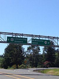 Oregon 18 interchange near Lincoln City.jpeg