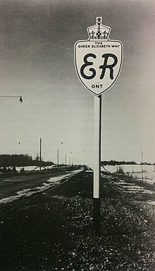 Original Queen Elizabeth Way Signage 1940