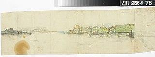 Kaupunkikuva mereltä päin nähtynä ; keskeneräinen