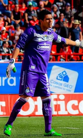 Oswaldo Sánchez - Sánchez playing for Santos Laguna in 2012