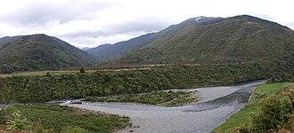 Tararua Range - Otaki River near Otaki Forks.