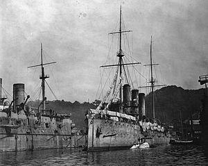 Japanese cruiser Otowa - Image: Otowa&Suou 1906Yokosuka