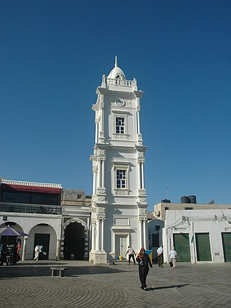 Tripoli - Ottoman Clock tower in Tripoli's old town medina