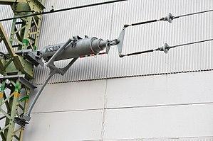 Tensioner - Image: Overhead line tensioner 012