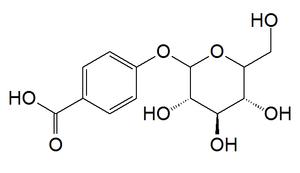 4-Hydroxybenzoic acid 4-O-glucoside - Image: P hydoxybenzoic acid glucoside