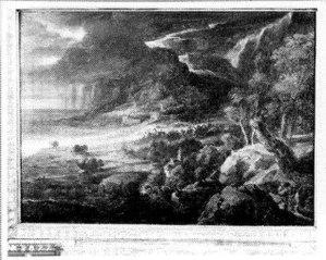Landschap in een onweersbui