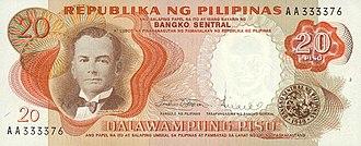 Philippine twenty peso note - Image: PHP20 Pilipino series bill