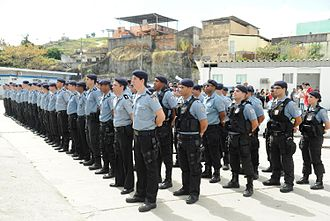 Pacifying Police Unit - Composition of a unit of the Polícia Pacificadora (UPP), here on the occasion of the ceremony for the change of command of the units.