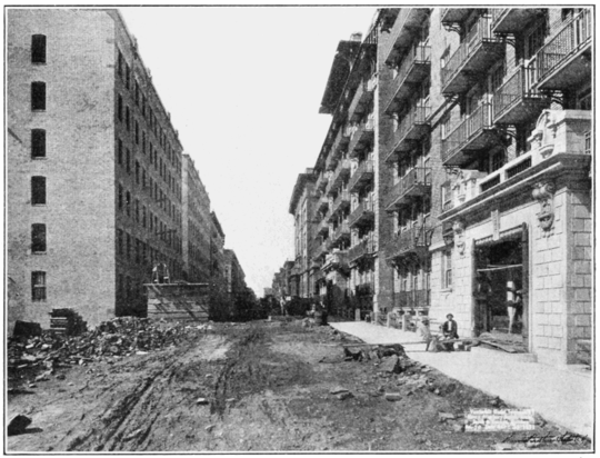 PSM V80 D195 Vanderbilt tenements at right on east 77th street looking west.png
