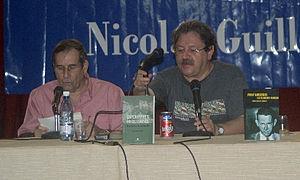 Paco Ignácio Taibo II (right) reading in Havan...