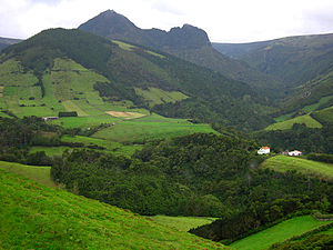 Lajes das Flores - Rugged interior of the municipality of Lajes das Flores