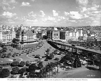 Viaduto do Chá - The viaduct in the 1920s