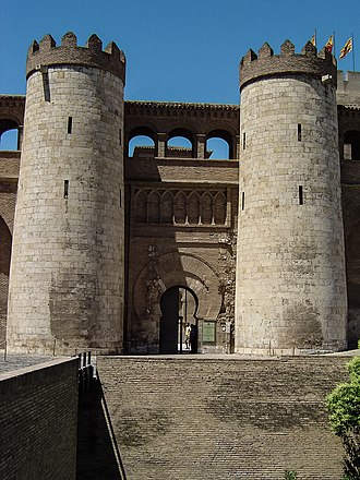 Aljafería - Access portal to the Palace of the Aljafería.